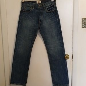 Levi's Jeans - Mens 501 Button Fly Straight Leg Jeans 29/30
